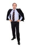 Posição ocasional do homem de negócio Fotos de Stock