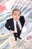 Posição rica do homem de negócio Imagens de Stock Royalty Free