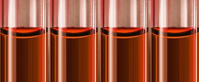 Posion nos tubos de vidro nos tubos de vidro pequenos Fotografia de Stock