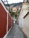 Positano - αλέα ερήμων Στοκ Φωτογραφίες