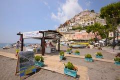 positano της Ιταλίας παραλιών Στοκ φωτογραφία με δικαίωμα ελεύθερης χρήσης