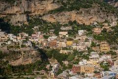 Positano - волшебная красивая деревня в Италии стоковое изображение rf