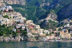 positano Италии costiera amalfitana Стоковое Фото