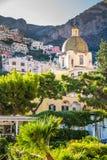 Positano - побережье Амальфи, Salerno, кампания, Италия Стоковые Изображения