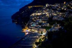 Positano, побережье Амальфи, кампания, Италия Стоковые Изображения
