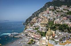 Positano, побережье Амальфи, кампания, Италия Стоковые Изображения RF