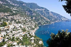 Positano - побережье Амальфи Стоковое фото RF