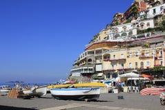 Positano, свободный полет Amalfi, Италия Стоковые Изображения RF