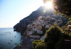 Positano. View of the town of Positano on Italy's Amalfi Coast Stock Photography