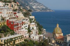 Positano. City view, on the Amalfi Coast of Italy stock photos