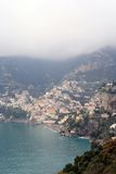 Positano on the Amalfi coast Stock Photos