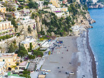 Positano on Amalfi coast, Campania, Italy Stock Images