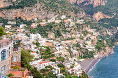 Positano - Amalfi Coast. The cliff side village of Positano is the Amalfi Coast`s most picturesque and photogenic township - Campania, Italy Royalty Free Stock Images