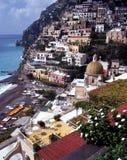 Positano, Amalfi Coast, Italy. Elevated view of the town and beach, Positano, Amalfi Coast, Campania, Italy, Europe Royalty Free Stock Image