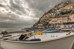 Positano on the Amalfi coast in Italy Royalty Free Stock Photos