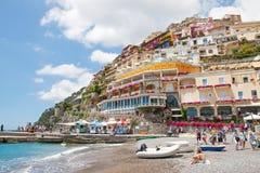 Positano, Amalfi Coast, Italy. POSITANO, ITALY -  JUNE 25, 2013: Positano is a village and a comune on the Amalfi Coast (Costiera Amalfitana), in Campania, Italy Stock Photography