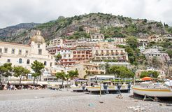 Positano, Amalfi Coast, Italy. POSITANO, ITALY - JUNE 25, 2013: Positano is a village and a comune on the Amalfi Coast (Costiera Amalfitana), in Campania, Italy stock photography