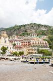 Positano, Amalfi Coast, Italy. POSITANO, ITALY - JUNE 25, 2013: Positano is a village and a comune on the Amalfi Coast (Costiera Amalfitana), in Campania, Italy stock photos