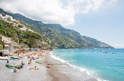 Positano, Amalfi Coast, Italy. POSITANO, ITALY - JUNE 25, 2013: Positano is a village and a comune on the Amalfi Coast (Costiera Amalfitana), in Campania, Italy stock photo