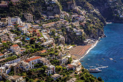Positano, on the Amalfi Coast, Italy. One of cliff side towns hugging the southern coast of Italy Royalty Free Stock Image