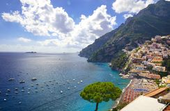 Positano on Amalfi Coast, Italy Royalty Free Stock Photos