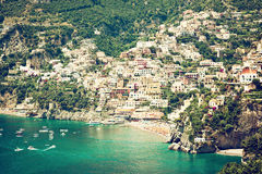 Positano Amalfi Coast Italy Stock Image