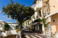 Positano on Amalfi Coast near Naples in Italy. Posi on Sorrento Peninsula in South Italy Royalty Free Stock Image