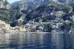 Positano. On the Amalfi coast from sea Stock Images