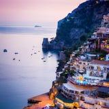 Positano, Amalfi Kust, Italië stock fotografie