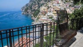 Positano Amalfi kust, Italien Fotografering för Bildbyråer