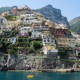 Positano Amalfi kust, Italien Arkivbilder