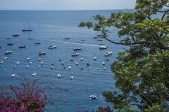 Positano Amalfi wybrzeża seaview fotografia royalty free