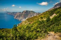 Amalfi Coast And Positano - Campania Region, Italy. Positano And Amazing Scenery Of Amalfi Coast - Salerno Province, Campania Region, Italy, Europe royalty free stock images
