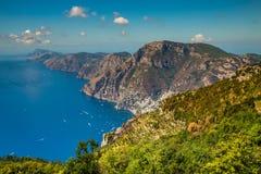 Amalfi Coast And Positano - Campania Region, Italy. Positano And Amazing Scenery Of Amalfi Coast - Salerno Province, Campania Region, Italy, Europe royalty free stock photo