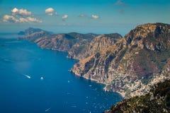 Amalfi Coast And Positano - Campania Region, Italy. Positano And Amazing Scenery Of Amalfi Coast - Salerno Province, Campania Region, Italy, Europe stock image