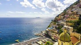 Positano auf Amalfi-Küste, Italien Stockfotos
