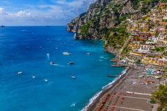 Positano beach beautiful seascape Italy Stock Images
