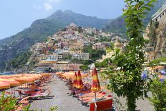 Positano from the Beach Stock Images