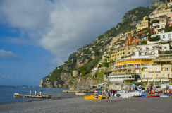 Positano, Beach View, Amalfi Coast,  Italy Stock Photo