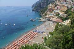 Positano Beack Italië Stock Foto