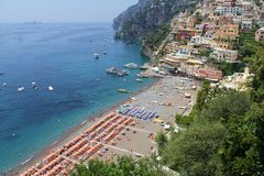 Positano Beach Italy Stock Photo