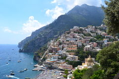 Positano. Is a beautiful village and comune on the Amalfi Coast (Costiera Amalfitana), in Campania, Italy Royalty Free Stock Image