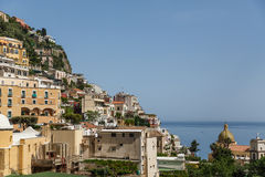 Positano on Blue Royalty Free Stock Photo