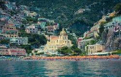 Positano-Bucht Lizenzfreie Stockfotografie
