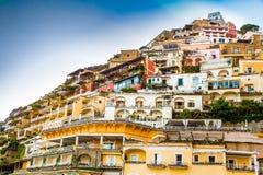 Positano - côte d'Amalfi, Salerno, Campanie, Italie Images stock