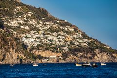 Positano - côte d'Amalfi, Salerno, Campanie, Italie Photographie stock libre de droits