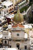 Positano church, italy Royalty Free Stock Images