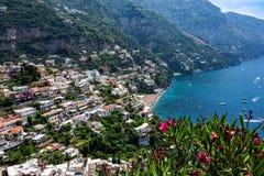 Positano Coastline in Italy Royalty Free Stock Photography