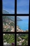 Positano Coastline in Italy Stock Photos