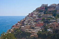 Positano - costa di Amalfi Fotografia Stock Libera da Diritti